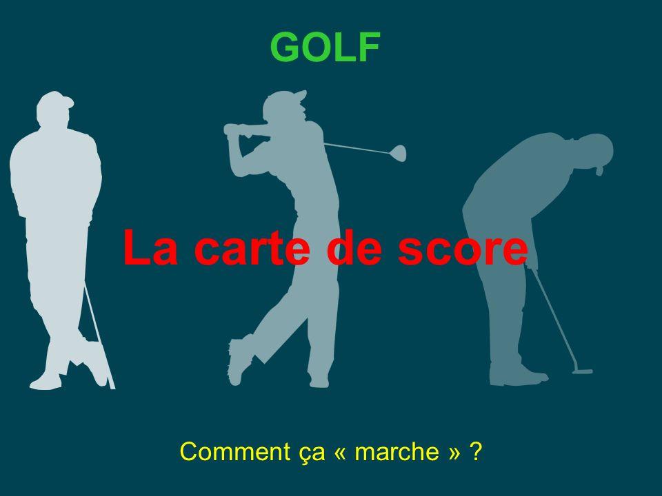 GOLF La carte de score Comment ça « marche »
