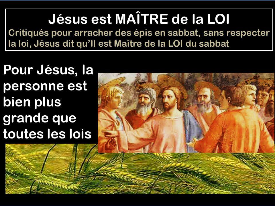 Jésus est MAÎTRE de la LOI