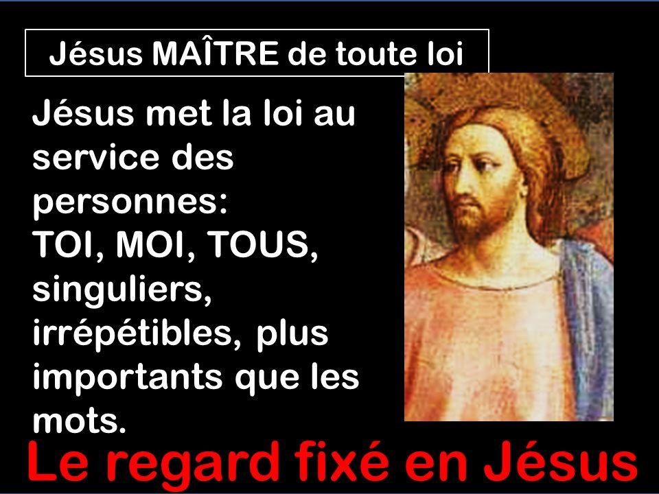 Jésus MAÎTRE de toute loi