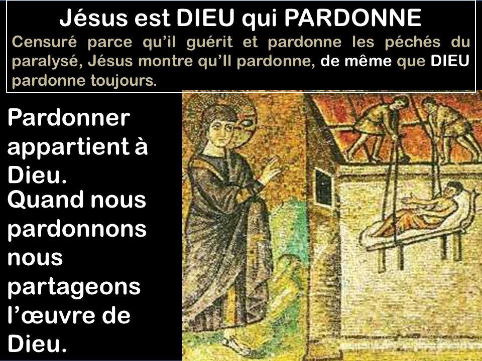Jésus est DIEU qui PARDONNE