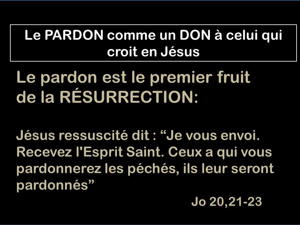 Le PARDON comme un DON à celui qui croit en Jésus