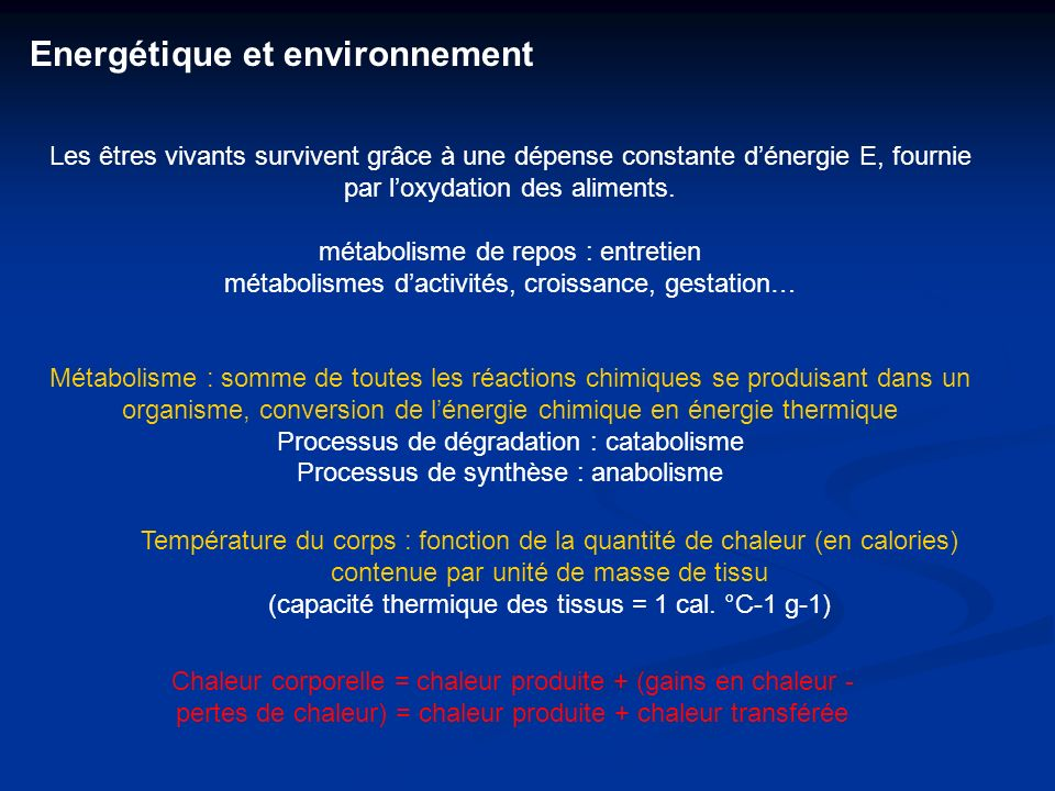 Energétique et environnement