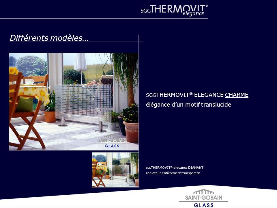 Différents modèles… élégance d'un motif translucide