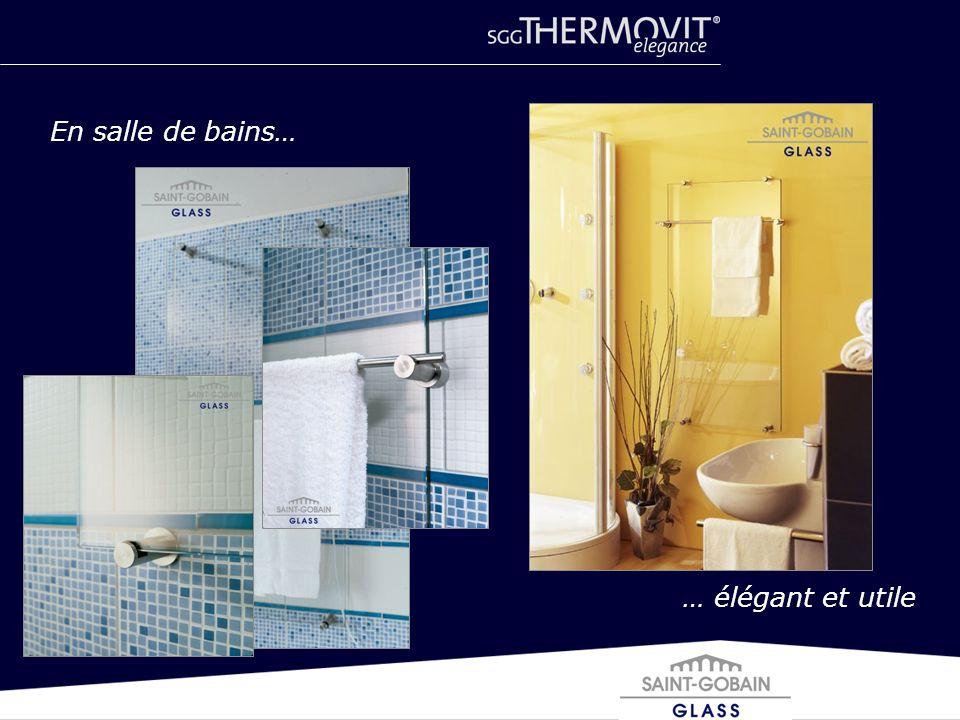 En salle de bains… … élégant et utile