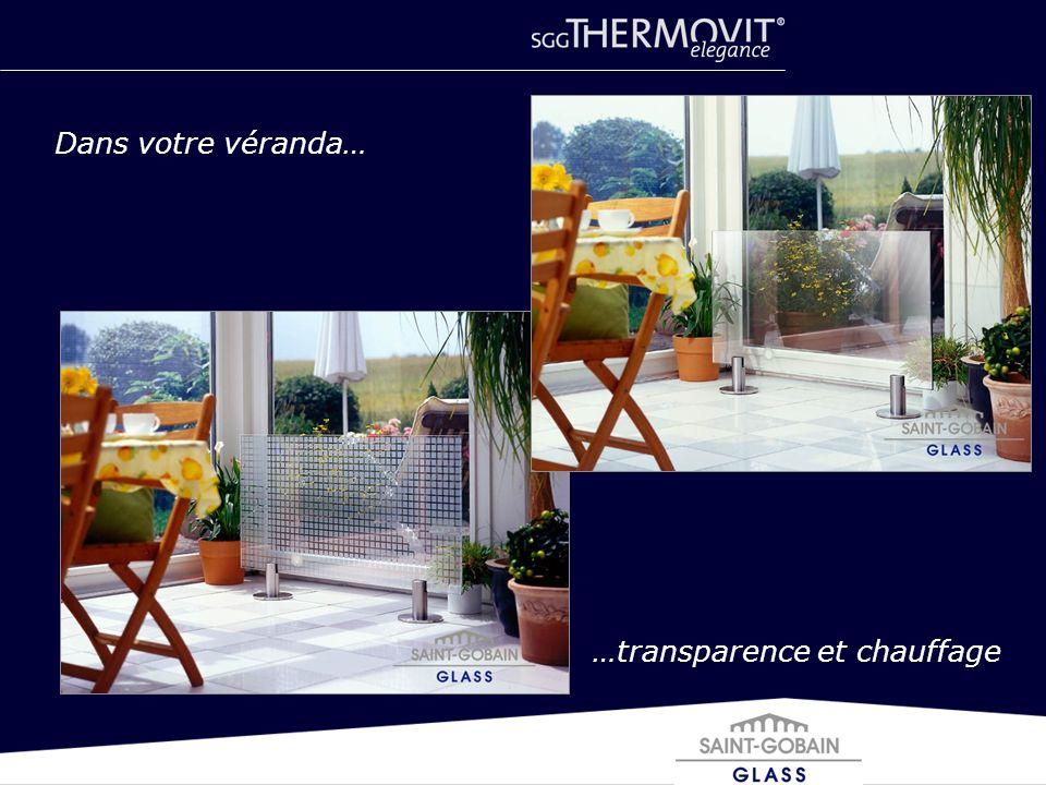 Dans votre véranda… …transparence et chauffage