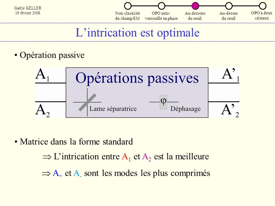 L'intrication est optimale