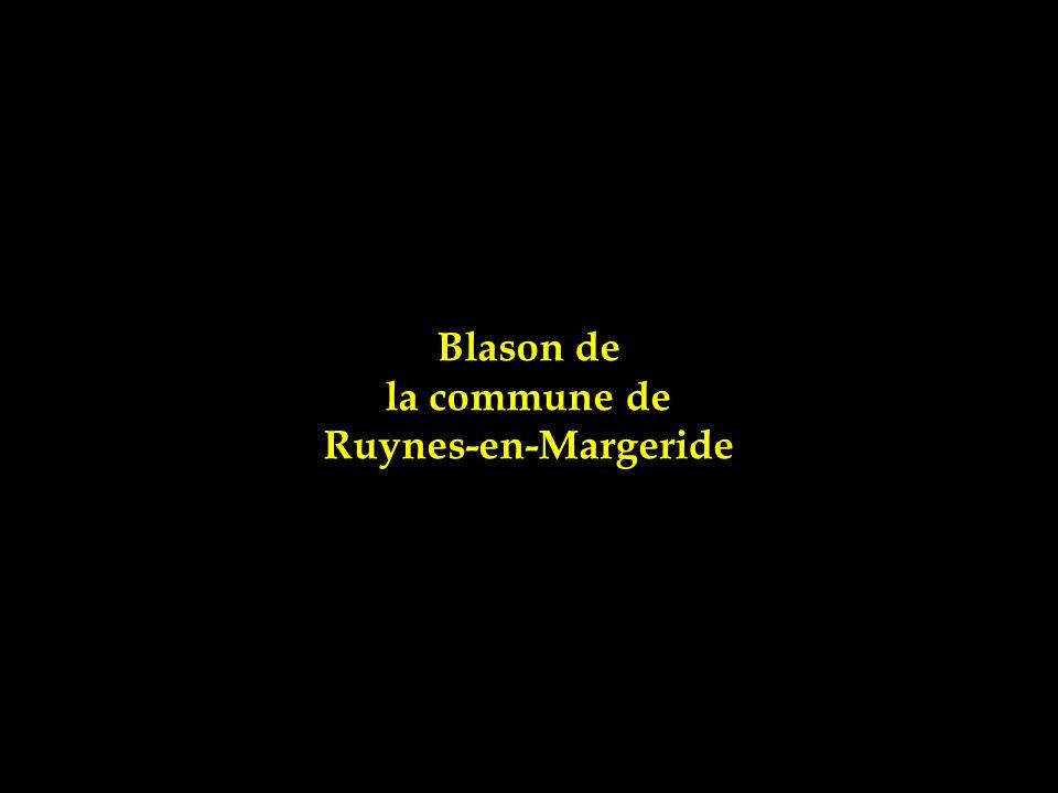 Blason de la commune de Ruynes-en-Margeride