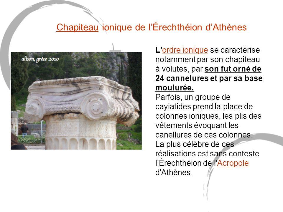 Chapiteau ionique de l'Érechthéion d'Athènes