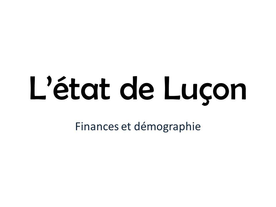 Finances et démographie