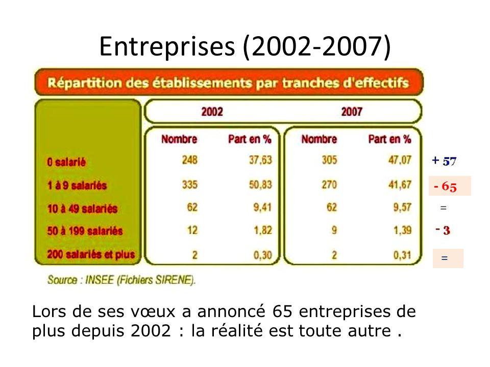 Entreprises (2002-2007) - 65.