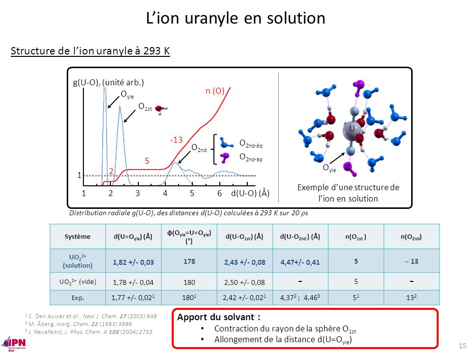 L'ion uranyle en solution