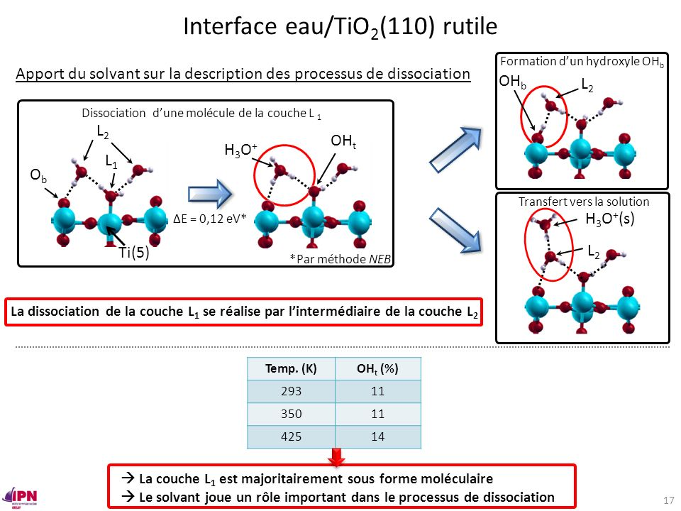 Interface eau/TiO2(110) rutile