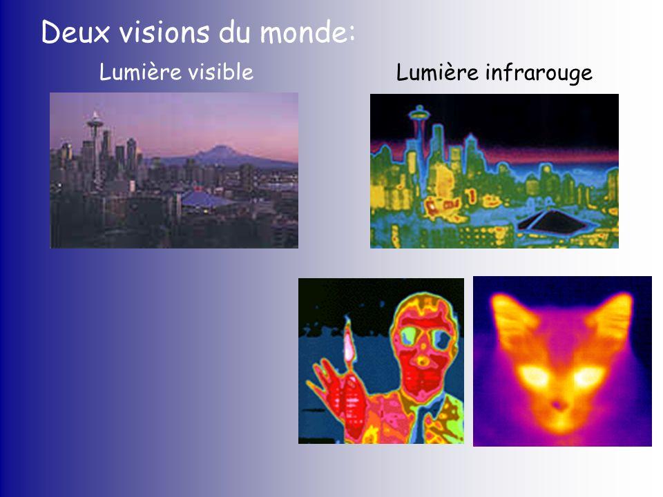 Deux visions du monde: Lumière visible Lumière infrarouge