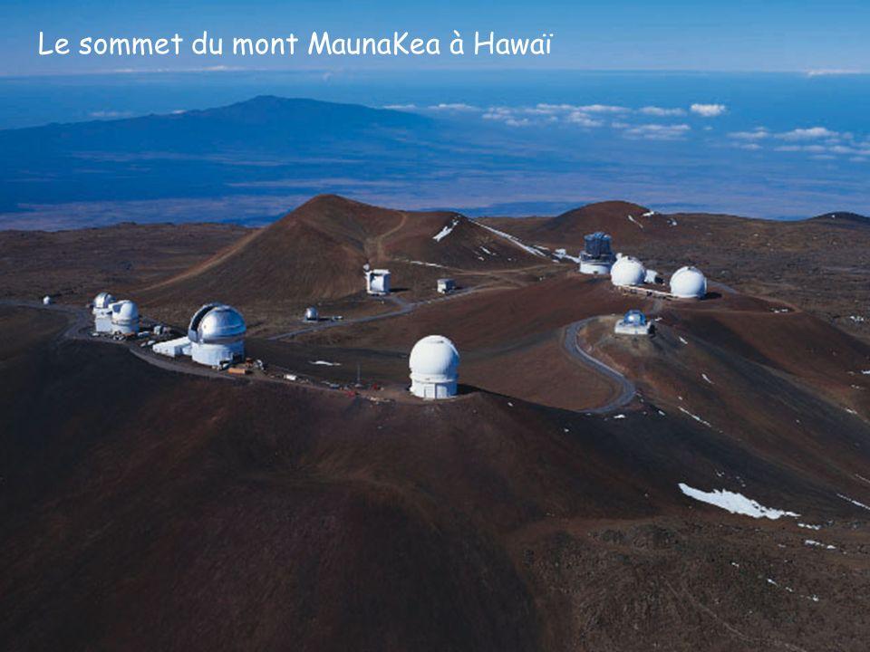 Le sommet du mont MaunaKea à Hawaï