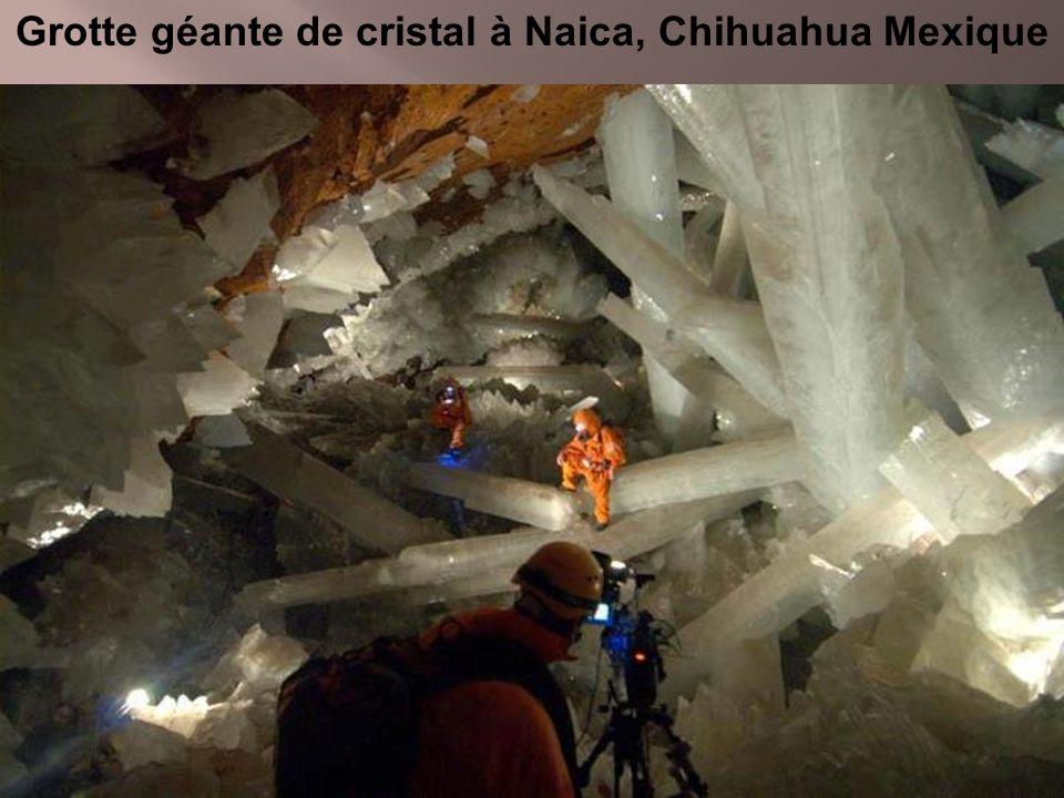 Grotte géante de cristal à Naica, Chihuahua Mexique