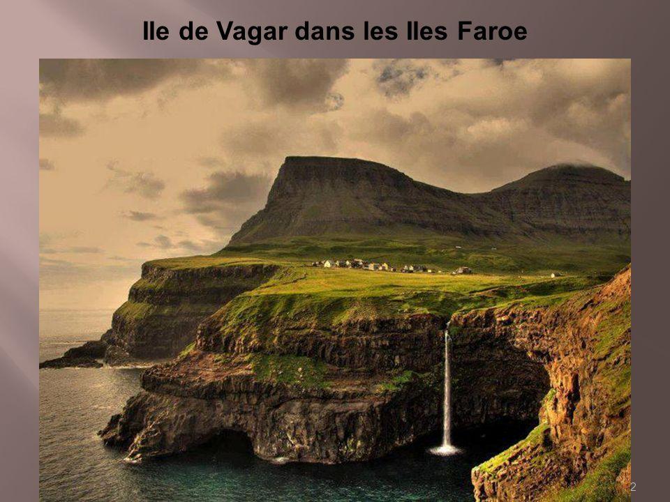 Ile de Vagar dans les Iles Faroe