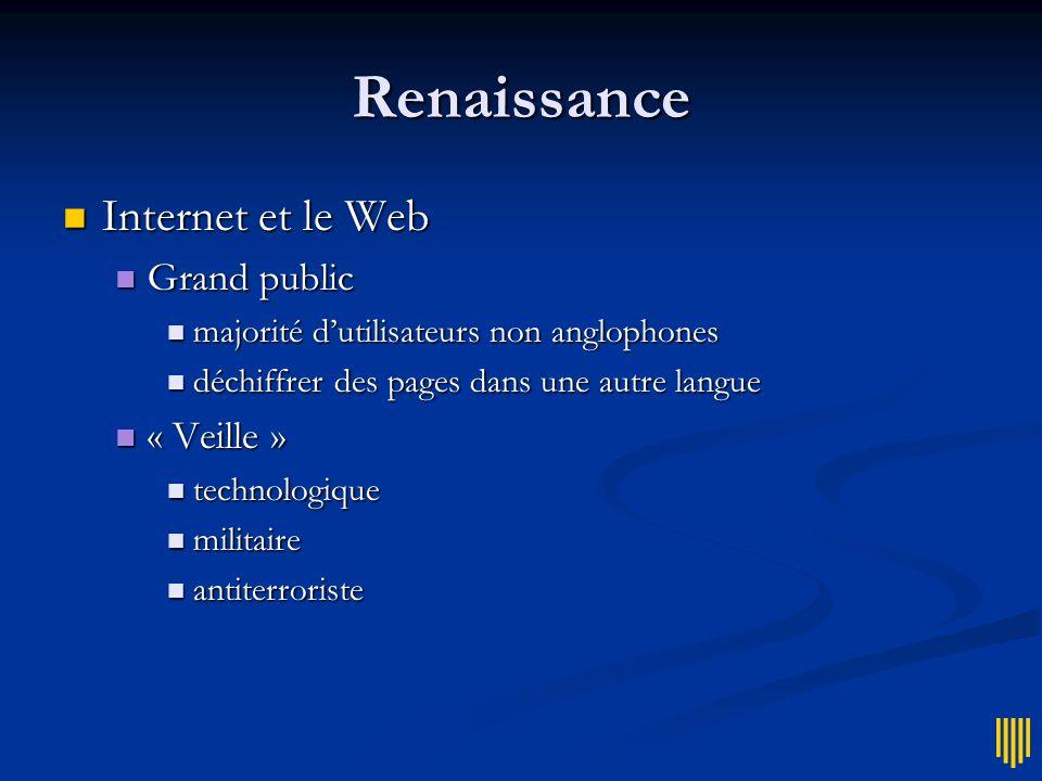 Renaissance Internet et le Web Grand public « Veille »