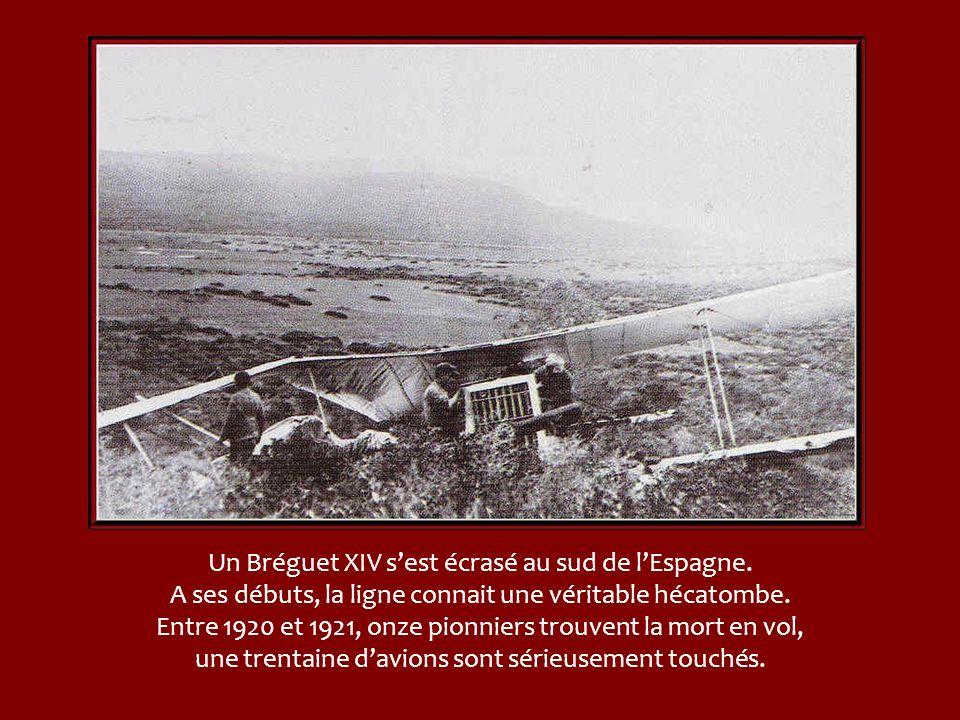 Un Bréguet XIV s'est écrasé au sud de l'Espagne