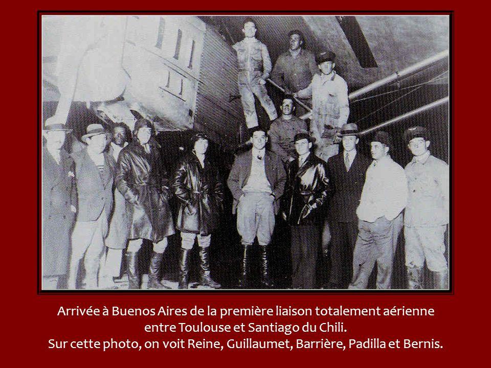 Arrivée à Buenos Aires de la première liaison totalement aérienne entre Toulouse et Santiago du Chili.