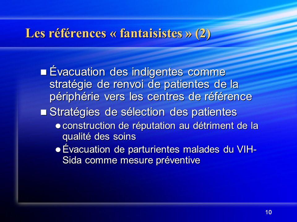 Les références « fantaisistes » (2)
