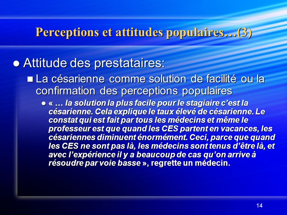 Perceptions et attitudes populaires…(3)