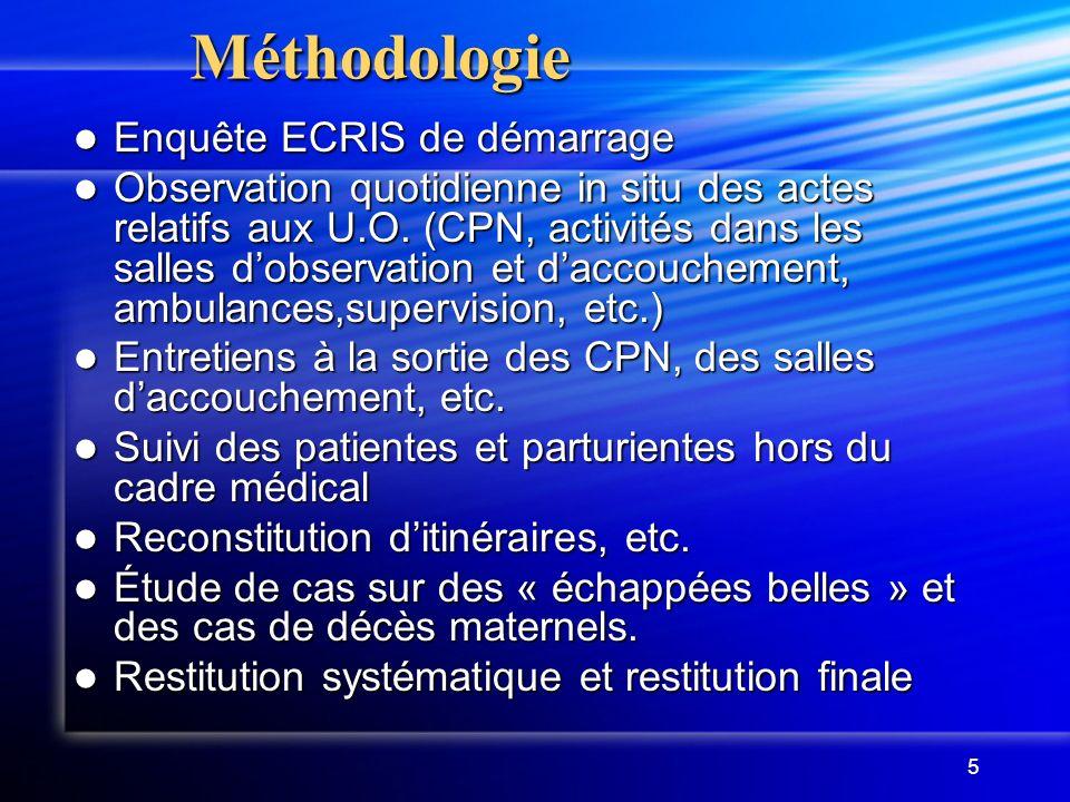 Méthodologie Enquête ECRIS de démarrage
