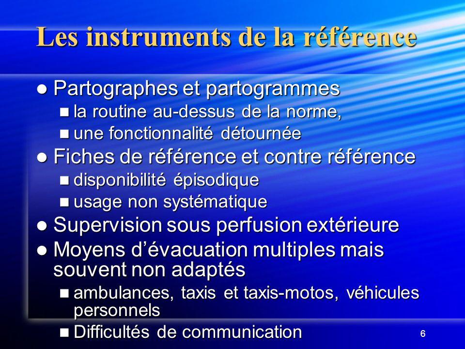 Les instruments de la référence