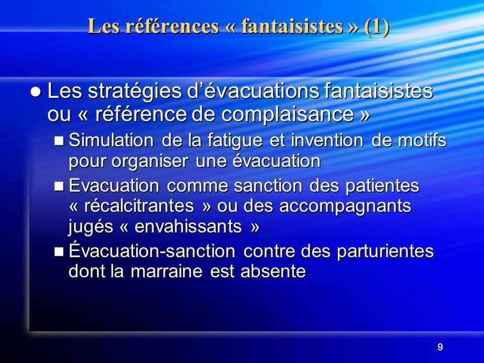 Les références « fantaisistes » (1)