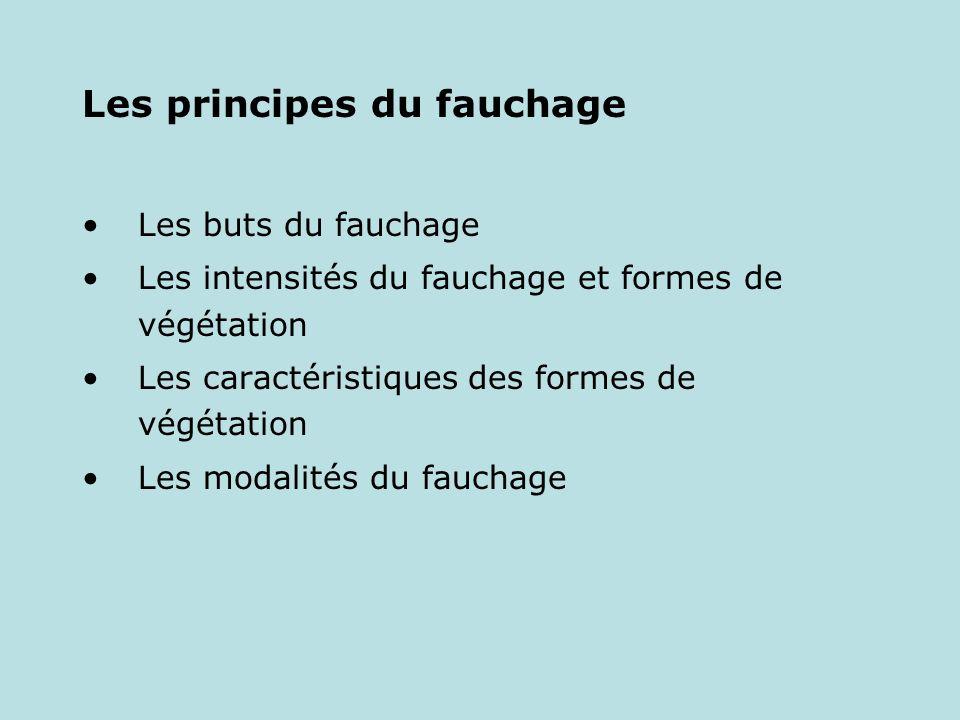 Les principes du fauchage