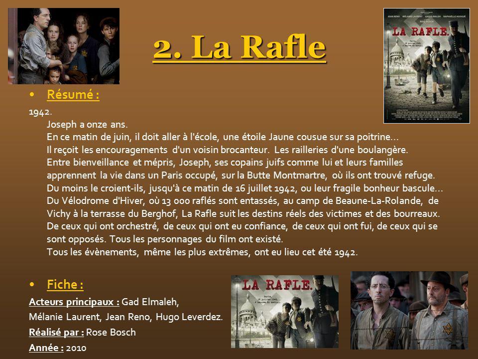 2. La Rafle Résumé : Fiche :