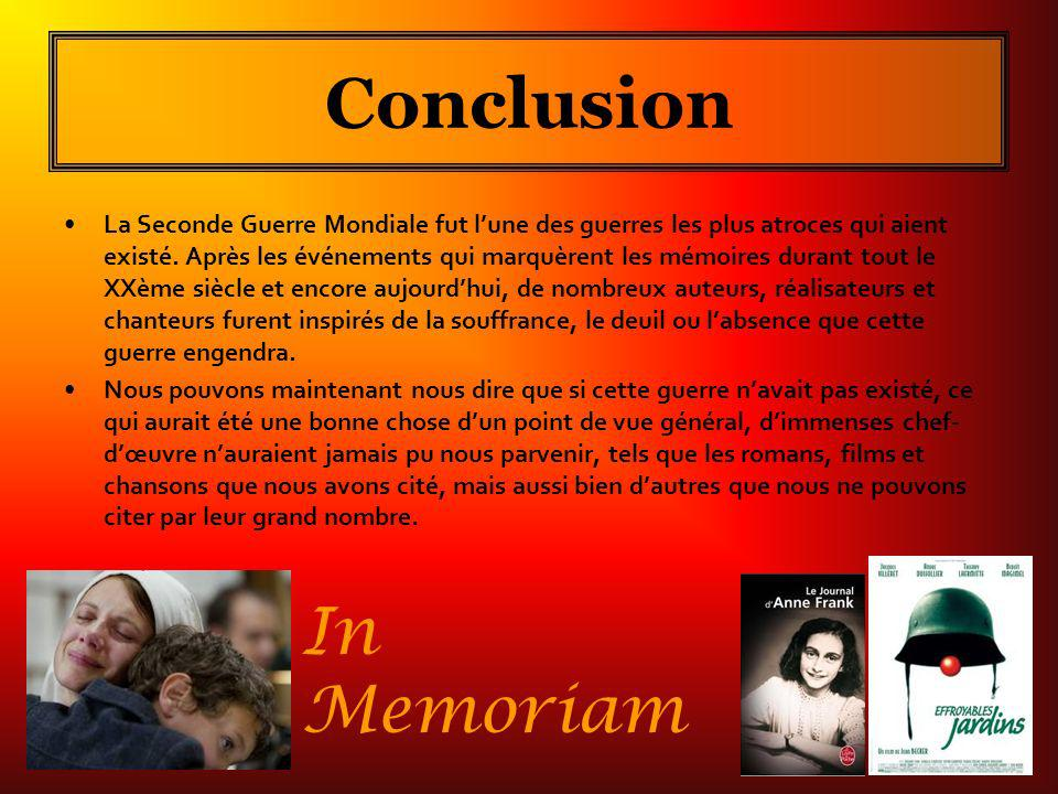 Conclusion In Memoriam