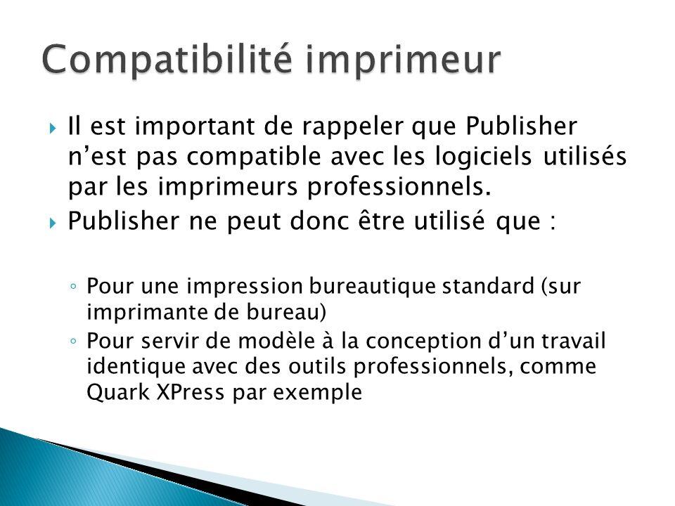 Compatibilité imprimeur