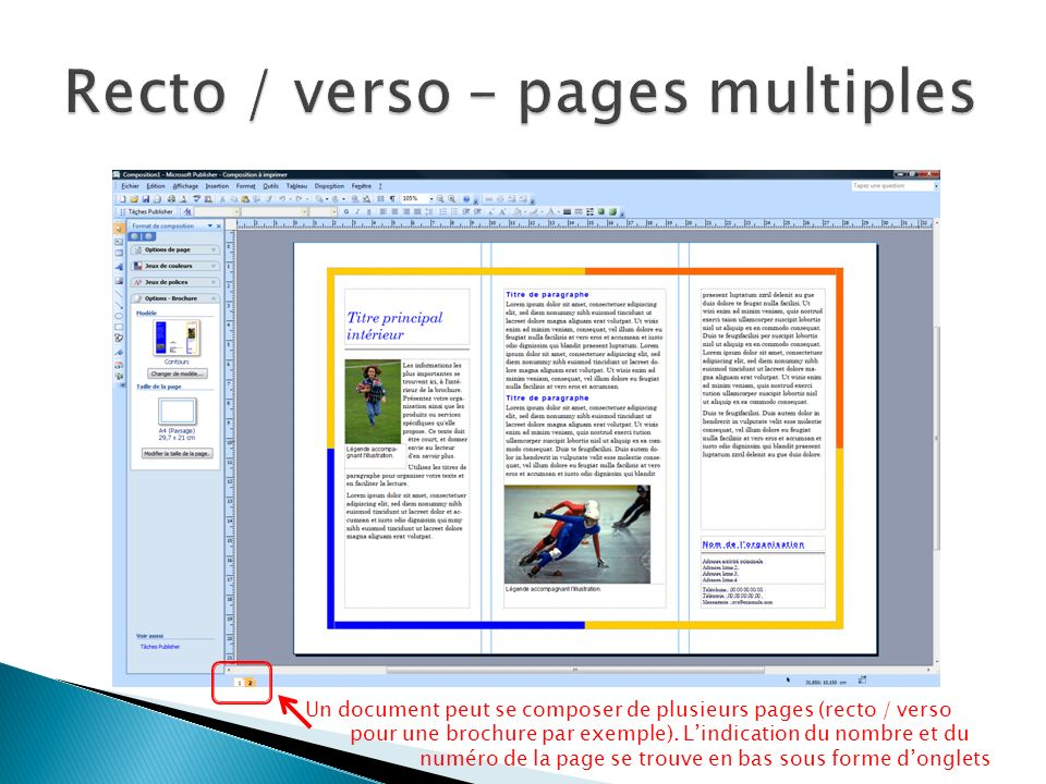 Recto / verso – pages multiples