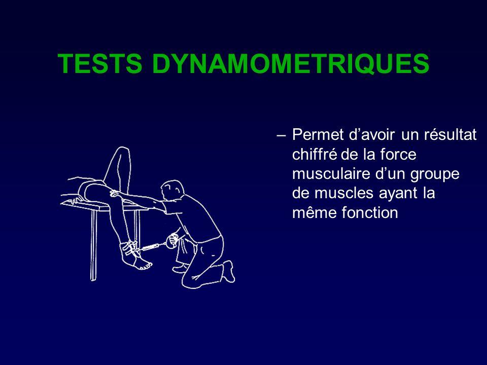 TESTS DYNAMOMETRIQUES