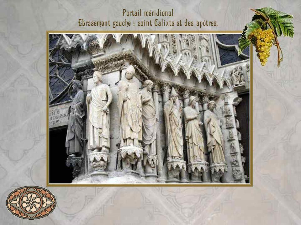 Ebrasement gauche : saint Calixte et des apôtres.