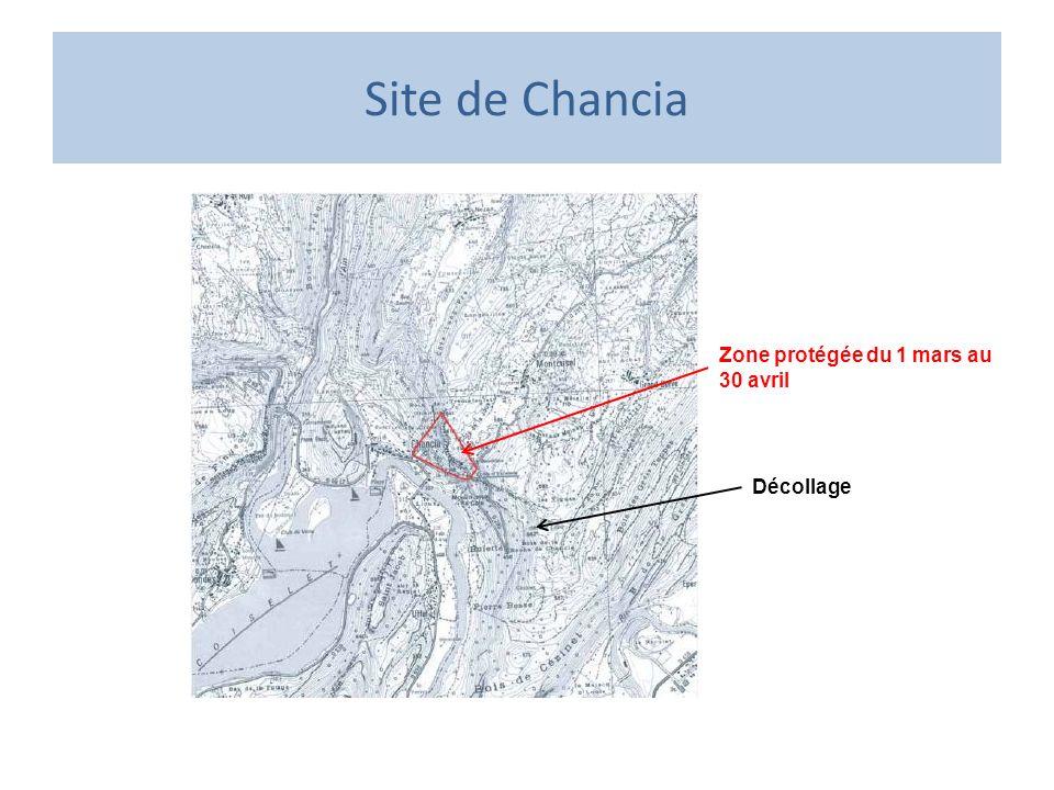 Site de Chancia Zone protégée du 1 mars au 30 avril Décollage