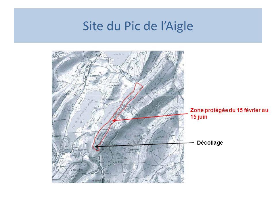 Site du Pic de l'Aigle Zone protégée du 15 février au 15 juin