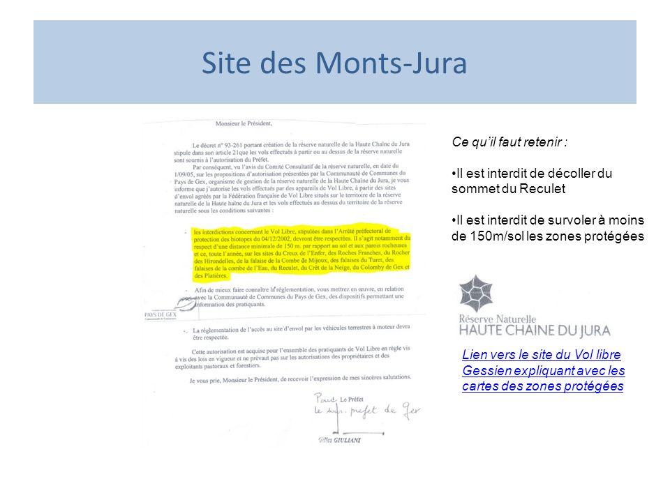 Site des Monts-Jura Ce qu'il faut retenir :