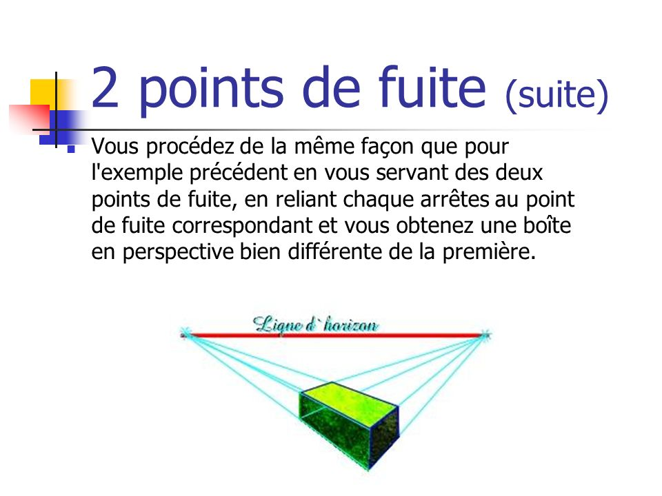 2 points de fuite (suite)