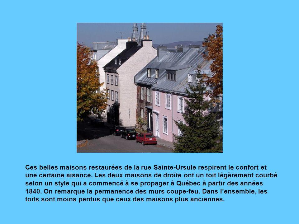 Ces belles maisons restaurées de la rue Sainte-Ursule respirent le confort et une certaine aisance.