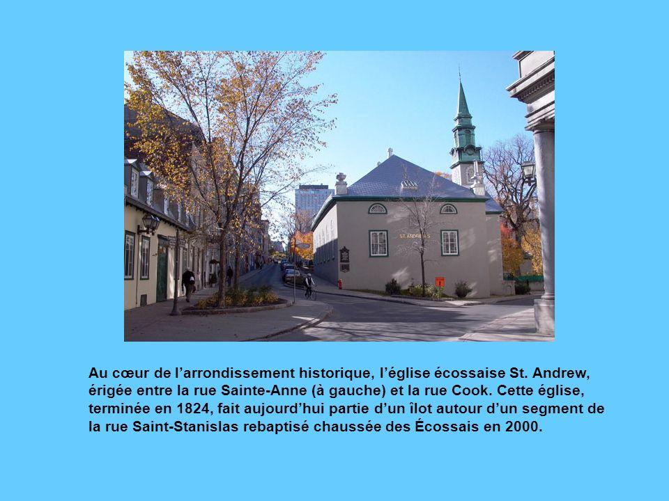 Au cœur de l'arrondissement historique, l'église écossaise St