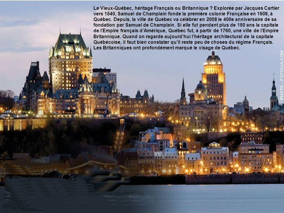 Le Vieux-Québec, héritage Français ou Britannique