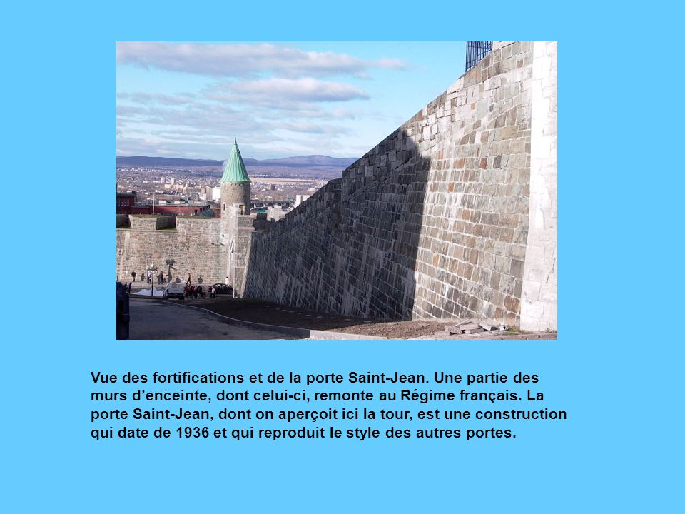 Vue des fortifications et de la porte Saint-Jean