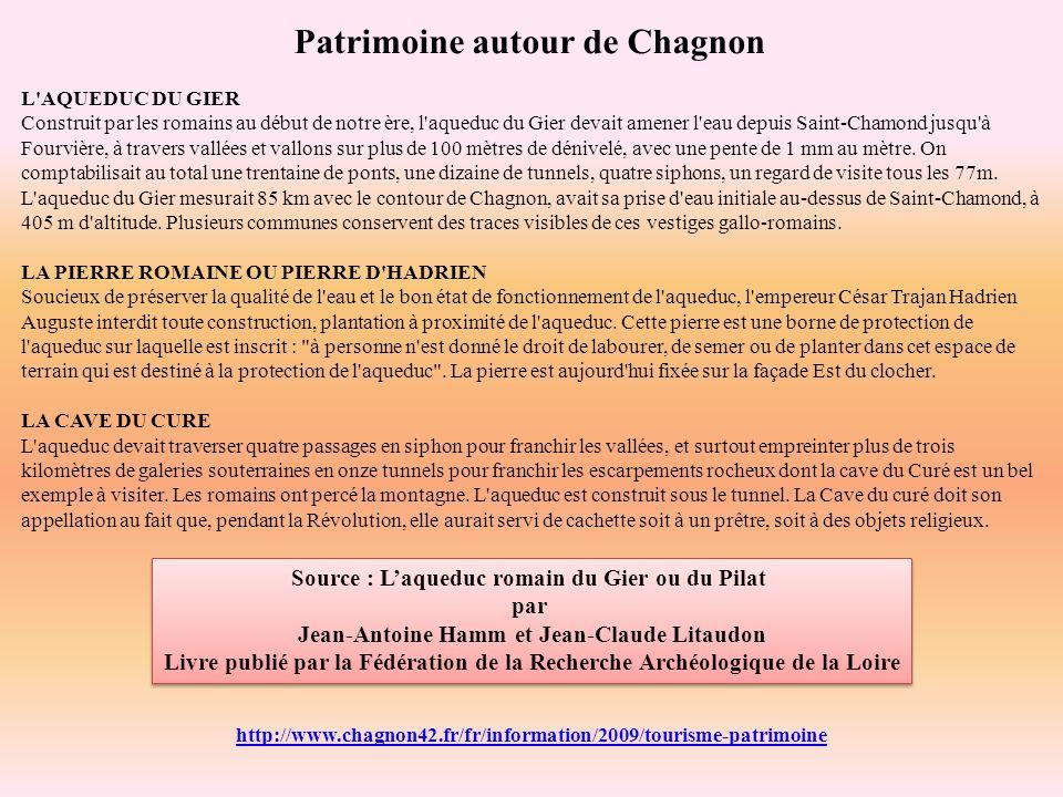 Patrimoine autour de Chagnon