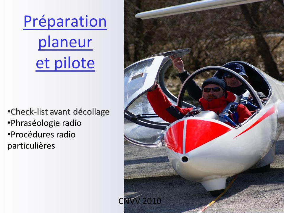 Préparation planeur et pilote