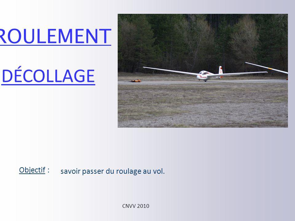 ROULEMENT DÉCOLLAGE Objectif : savoir passer du roulage au vol.