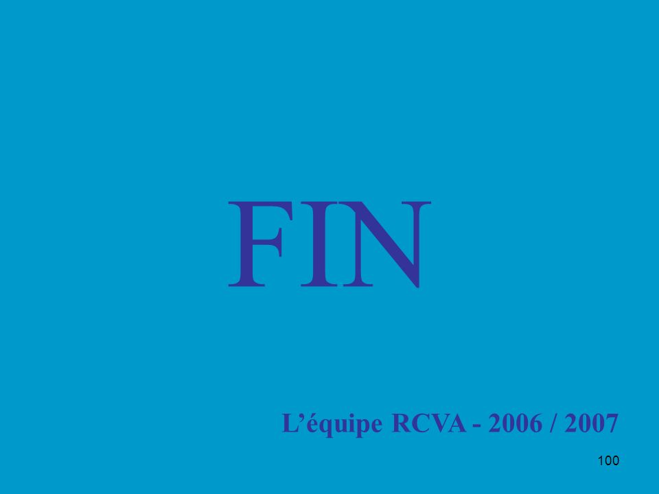 FIN L'équipe RCVA - 2006 / 2007