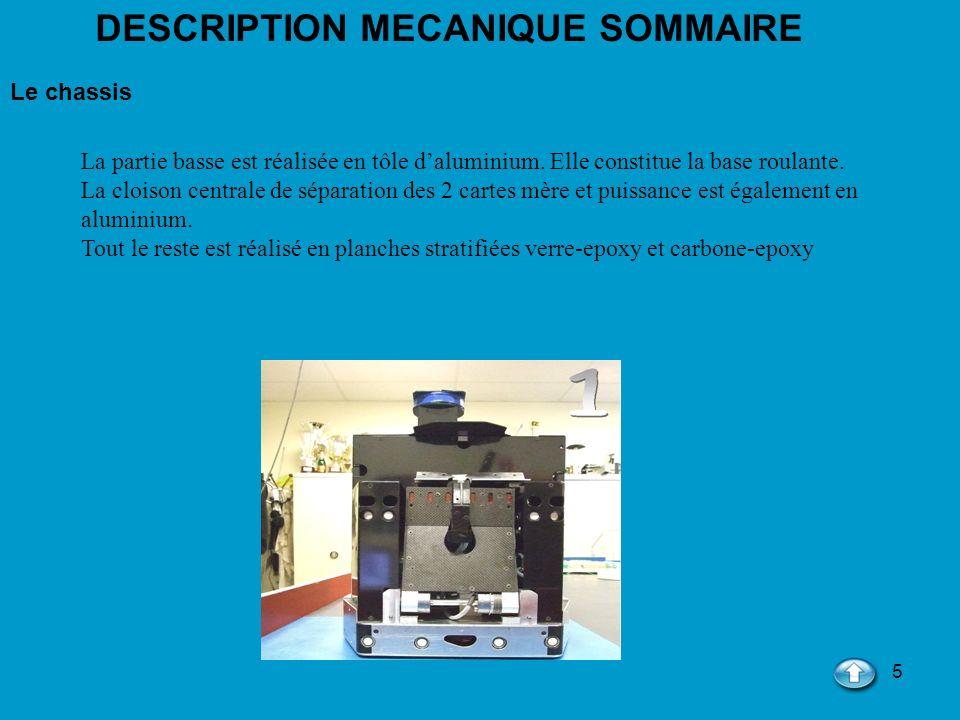 DESCRIPTION MECANIQUE SOMMAIRE