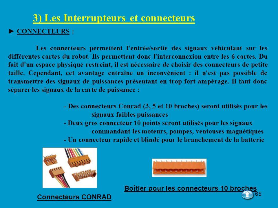3) Les Interrupteurs et connecteurs