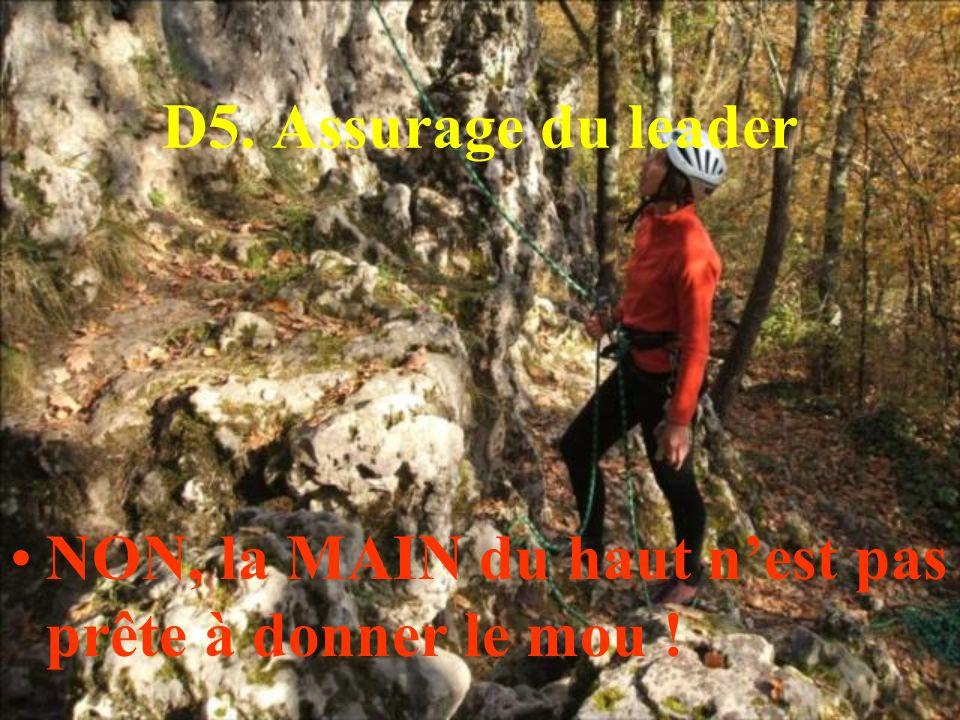 D5. Assurage du leader NON, la MAIN du haut n'est pas prête à donner le mou !
